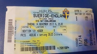 Sweden v England ticket 2012