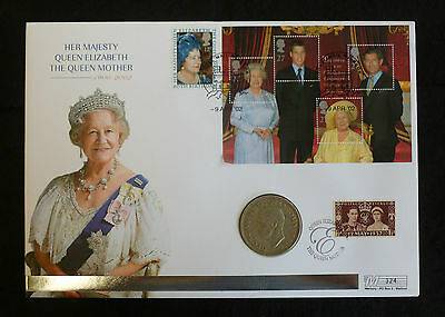George VI 1937 Coronation Silver Crown Queen Mother Memorial Coin Cover