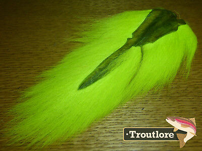 Chartreuse Bucktail Nature's Spirit Select Buck Tail New Fly Tying Hair Material