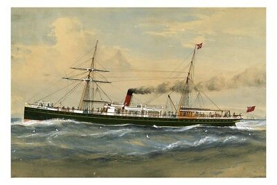 ARAWATA of UNION SS Co NZ - A V Gregory Art Modern digital Postcard
