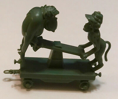 R&l 1969 Cereal Toy ~ Zoo Choo Train, Simians ~ Olive ~Rare Aussie Kelloggs