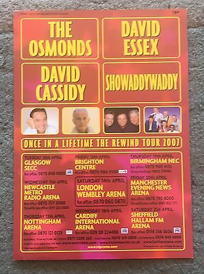 Showaddywaddy Once In A Lifetime The Rewind Tour A5 UK Flyer 2007