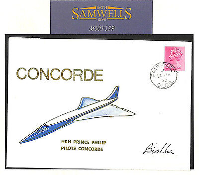 MS1559 1972 GB CONCORDE Signed Special Flight Fairford *Prince Phillip Pilots..*