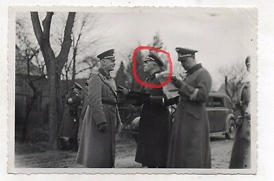 Original Period Ww2 German Photograph Rommel With Others