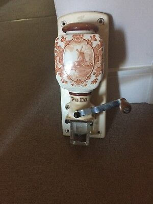 Vintage Delft PeDe Wall Mounted Coffee Grinder