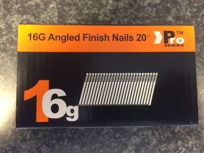 500 x 38mm Angled 16G 2nd Fix Nails DEWALT DC618KB & DCN660