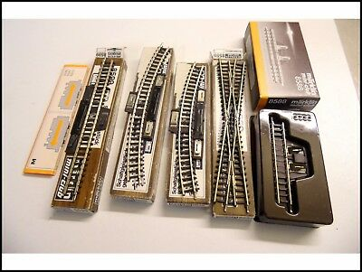 NEUF DE STOCK LOT MARKLIN MINI CLUB echelle Z 1/220 RAILS TRAIN ELECTRIQUE Z