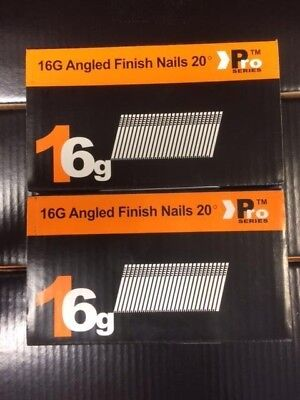 1000 x Mixed Angled 16G 2nd Fix Nails DEWALT DC618KB & DCN660 (500 each size)