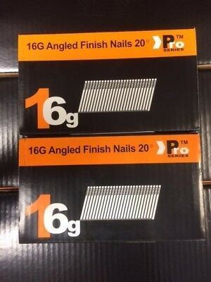 1000 x Mixed Angled 16G Nails DEWALT DC618KB & DCN660(500 each size) 38mm/45mm