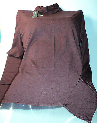 Wholesale Lot Ladies Tops Small Burgundy Long Sleeve Soft Silky 6 for Only £15