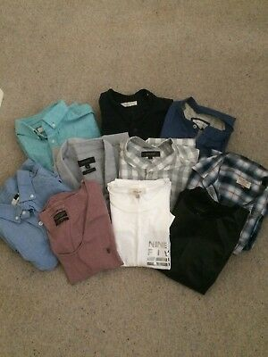 Mens Fashionable Branded Large Bundle Shirts & T-Shirts Size S And M