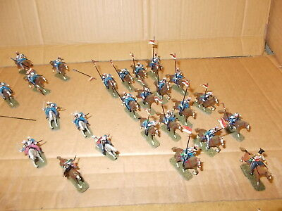 Esci 1.72 Napoleonic  French Polish Lancers Cavalry - 25 Painted Figs