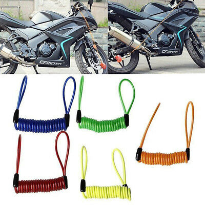 1X Elastic Bike Motorcycle Reminder Cable Alarm Wire Security Spring Travel Rope