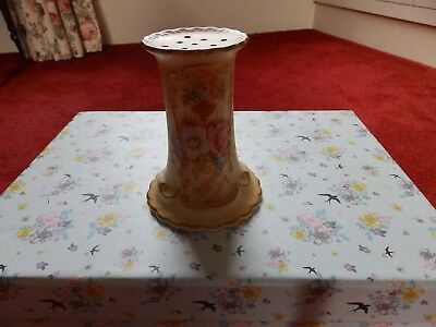 Devonware  Fielding's, Antique Blushware hat pin stand No chips or cracks 5''