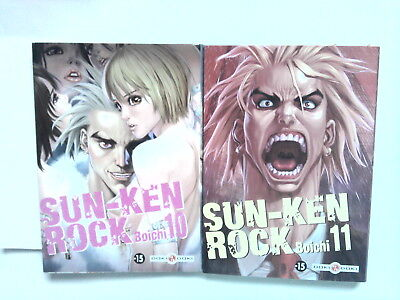 Lot SUN KEN ROCK 10 et 11  (Boichi) manga Doki Doki France