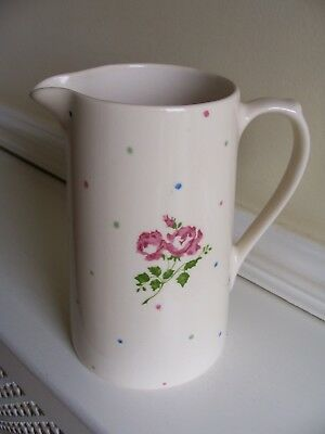 Laura Ashley Rose & Multi Coloured Spots Design Large Jug
