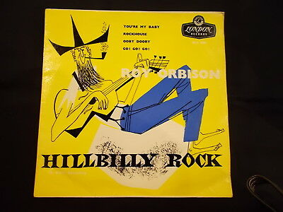 Roy Orbison - Hillbilly Rock Ep! 1963 London Re-S 1089 Rare Uk 4-Track P/s Ex!