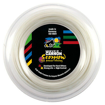 Weiss Cannon Scorpion 17G 1.22mm (white) 660ft 200m Tennis String Reel