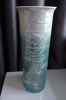 Antique Shelley Walter Slater Signed Lustre Fish Pattern Vase No.8306 C 1912-25