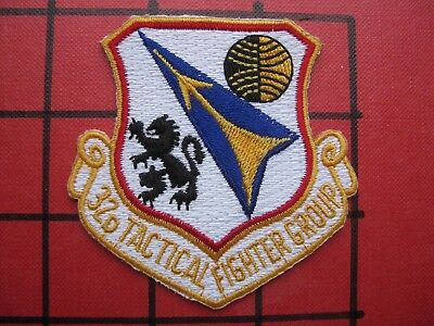 Original Squadron Patch Usafe 32 Tactical Fighter Group Soesterberg Wolfhounds