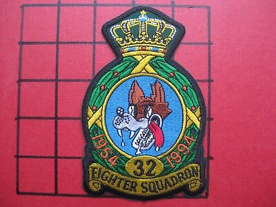 Original Squadron Patch Usafe 32 Fs Fighter Sqn Soesterberg Wolfhounds  '54-'94