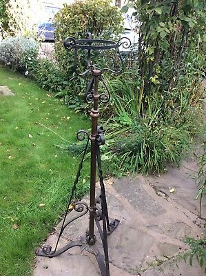 Antique Extendable Lamp Plant Stand