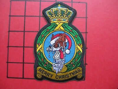 Original Squadron Patch Usafe 32 Fs Fighter Sq Wolfhounds  Merry Christmas