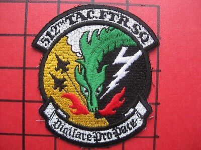 ORIGINAL SQUADRON PATCH USAFE 512 TFS RAMSTEIN,  EARLY F-16 ERA  MID 1980's