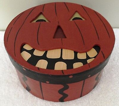 Halloween Paper Mache Pumpkin Box