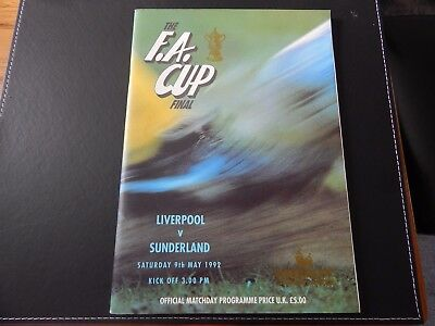 1991 & 1992 FA Cup Final Programmes [Including 1992 Cup Final Poster]