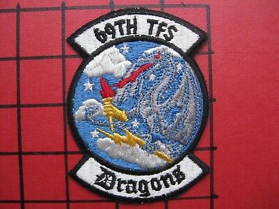 ORIGINAL SQUADRON PATCH USAF 69 TFS F-4 ERA ? 1980's  MOODY AFB THICK US MADE