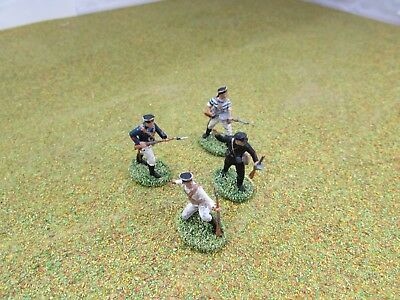 4 x 1/72 20mm WW2 Russian Naval Infantry Painted