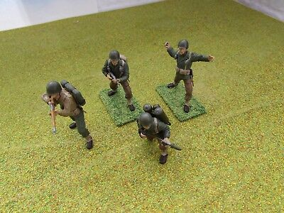 4 x 1/35 WW2 US American Infantry Painted