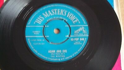 "THE MYSTICS ""Hushabye"" 45rpm 7"" HMV Records 1959 SAMPLE"