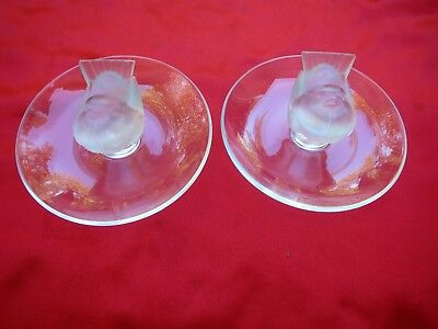 Vintage (2) Lalique Dove Pin / Jewerly Holders