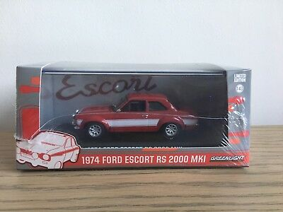 1/43 Greenlight Ford Escort 1974 Mk1 RS2000 Mexico Forest Arches Red Rally RARE