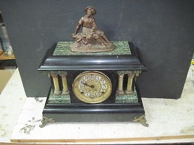 Seth Thomas Victorian Mantle Clock With Figure-Adamantine Model