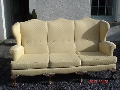 Stunning Sofa With Ball And Claw Feet  8 Legged