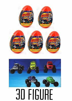 5 New BLAZE AND THE MONSTER MACHINES Surprise Eggs With Figure Inside Each Egg!