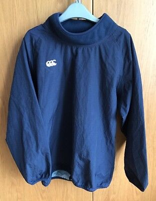 Canterbury Kids Long Sleeved Navy Contact Top - Aged 12 - Junior Rugby Training