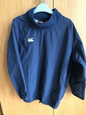Canterbury Kids Long Sleeved Navy Contact Top - Aged 10 - Junior Rugby Training