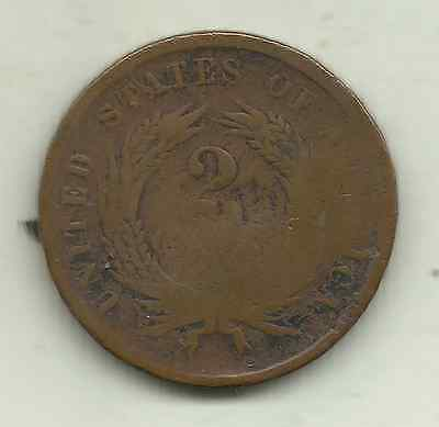 United States, 2 cents, 1864