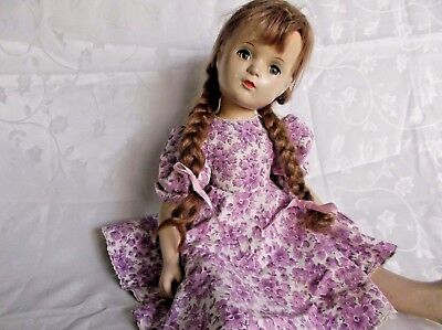 """Vintage Madame Alexander Doll  Wendy Ann Composition Mohair Wig 21"""" Jointed Cute"""