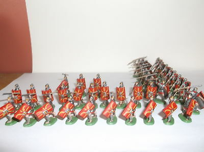 PAINTED SOLDIERS 1/72 20mm - ROMAN INFANTRY- ROMAN WARS - x 40 HAT
