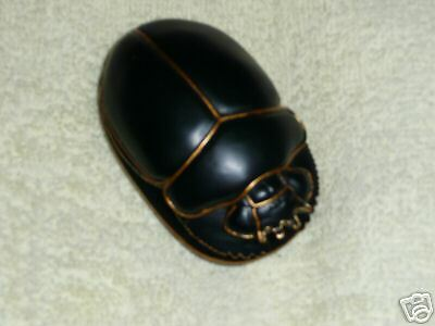 EGYPTIAN  SCARAB   Black with gold
