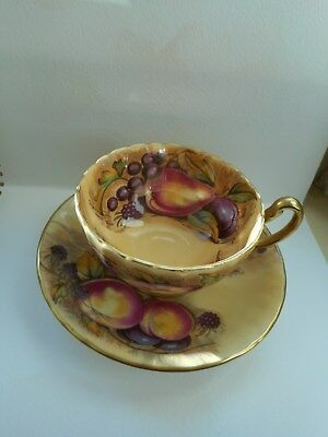 Vintage Aynsley Orchard Gold Cup And Saucer Set Bnwot