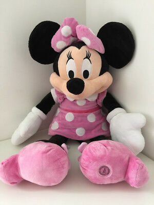"Minnie Mouse GIANT Size Soft Plush Toy Disney Store 36"" Tall 3ft"