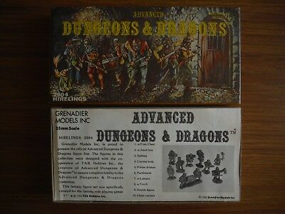 Advanced Dungeons & Dragons 2004 Hirelings 10 pc Solid Gold Line set