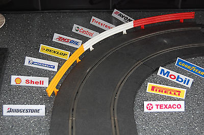 Trackside Advertisement Boards for Slot Car Racing