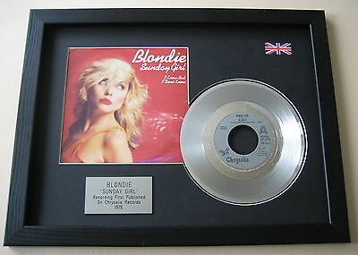 BLONDIE Sunday Girl PLATINUM Disc & Cover Presentation